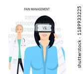 pain management concept. woman...   Shutterstock .eps vector #1189933225