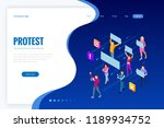 isometric crowd of people...   Shutterstock .eps vector #1189934752