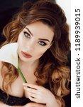portrait of beautiful young... | Shutterstock . vector #1189939015