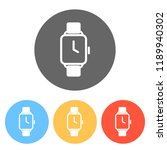 hand smart watch with square...   Shutterstock .eps vector #1189940302