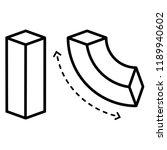 bend. vector flat outline icon...   Shutterstock .eps vector #1189940602