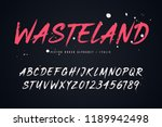 wasteland vector brush style... | Shutterstock .eps vector #1189942498