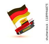 tag der deutschen einheit.... | Shutterstock .eps vector #1189946875