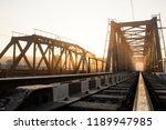a railway bridge in the morning ... | Shutterstock . vector #1189947985