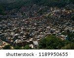 countless houses in the rocinha ...   Shutterstock . vector #1189950655