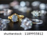 vintage gold jewelry blue... | Shutterstock . vector #1189955812