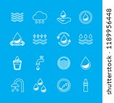 water icons set isolated on...   Shutterstock .eps vector #1189956448