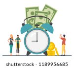 the concept of managing your... | Shutterstock .eps vector #1189956685