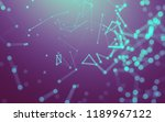 abstract polygonal space low... | Shutterstock . vector #1189967122