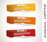 set of three ripped paper...   Shutterstock .eps vector #118997938