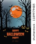 happy halloween design... | Shutterstock .eps vector #1189979485
