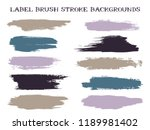 graphic label brush stroke... | Shutterstock .eps vector #1189981402