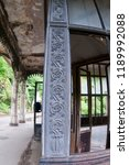 column in the gothic style made ... | Shutterstock . vector #1189992088