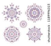 set of ornamental vector  lilac ... | Shutterstock .eps vector #1189996315