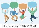 vector cartoon illustration of... | Shutterstock .eps vector #1189996528