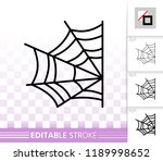 spider web thin line icon.... | Shutterstock .eps vector #1189998652