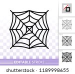spider web thin line icon.... | Shutterstock .eps vector #1189998655