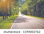 long highway road or long main... | Shutterstock . vector #1190002762