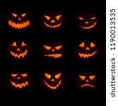 halloween big icon set with...