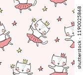 Cute Cat Ballerina Vector...