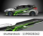 car decal wrap design vector.... | Shutterstock .eps vector #1190028262