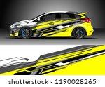 car decal wrap design vector.... | Shutterstock .eps vector #1190028265