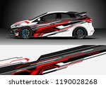 car decal wrap design vector.... | Shutterstock .eps vector #1190028268