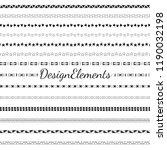 divider line design elements... | Shutterstock .eps vector #1190032198