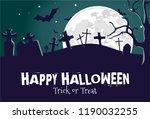 halloween illustration night... | Shutterstock .eps vector #1190032255