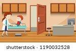 doctor helping injured boy... | Shutterstock .eps vector #1190032528