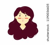 illustration young woman with a ... | Shutterstock .eps vector #1190036605