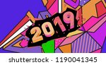 2019 new year text with... | Shutterstock .eps vector #1190041345