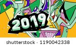 2019 new year text with... | Shutterstock .eps vector #1190042338