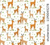 vector seamless pattern with... | Shutterstock .eps vector #1190045278