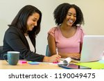 woman working together. | Shutterstock . vector #1190049475