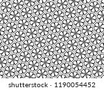 ornament with elements of black ... | Shutterstock . vector #1190054452