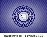 toilet paper icon inside emblem ... | Shutterstock .eps vector #1190063722