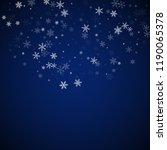 sparse snowfall christmas... | Shutterstock .eps vector #1190065378