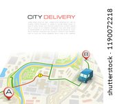 city map navigation delivery... | Shutterstock . vector #1190072218