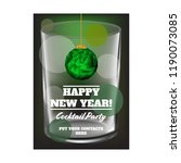new year flyer with the glass... | Shutterstock .eps vector #1190073085