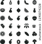 solid black flat icon set... | Shutterstock .eps vector #1190074228