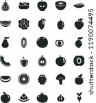solid black flat icon set... | Shutterstock .eps vector #1190074495