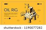 oil rig offshore platform... | Shutterstock .eps vector #1190077282