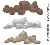 stones  a set of various stones.... | Shutterstock .eps vector #1190078932