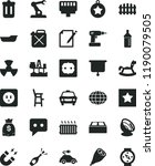 solid black flat icon set... | Shutterstock .eps vector #1190079505