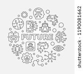 future round vector concept... | Shutterstock .eps vector #1190081662