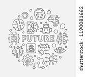 future round vector concept... | Shutterstock .eps vector #1190081662
