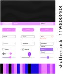 light pink  blue vector web ui...