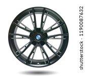 car alloy wheel isolated on... | Shutterstock . vector #1190087632