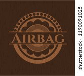 airbag retro style wooden emblem | Shutterstock .eps vector #1190091025